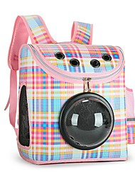 cheap -Dog Rabbits Cat Carrier Bag & Travel Backpack Waterproof Portable Mini Pet Oxford Cloth Plaid / Check Solid Colored Fashion Red Orange Blue