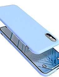 cheap -Phone Case For Apple Back Cover iPhone X iPhone 8 Plus iPhone 8 iPhone 7 Plus iPhone 7 Ultra-thin Solid Color Soft Silicone Silica Gel