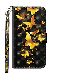 cheap -Case for Samsung scene map Samsung Galaxy S20 S20 Plus S20 Ultra 3D Painted pattern PU leather material card holder lanyard all-inclusive drop-resistant mobile phone case