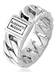 Недорогие -Муж. Кольцо Золотой Серебряный Титан Сталь Круглый Мода Дискотека Подарок Повседневные Бижутерия