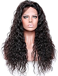 cheap -Virgin Human Hair Lace Front Wig style Brazilian Hair Wavy Black Wig 180% Density with Baby Hair Women Women's Short Medium Length Long Human Hair Lace Wig Premierwigs