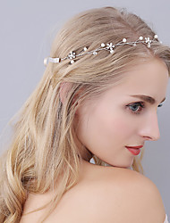 cheap -Imitation Pearl / Rhinestone Headbands with Flower 1 Piece Wedding / Party / Evening Headpiece