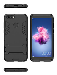 cheap -Case For Huawei Huawei P smart Shockproof / with Stand Back Cover Armor Hard PC
