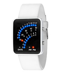 Недорогие -Жен. электронные часы Цифровой силиконовый Черный / Белый Календарь Секундомер Светящийся Цифровой Мода Элегантный стиль - Белый Черный Один год Срок службы батареи / SSUO LR626
