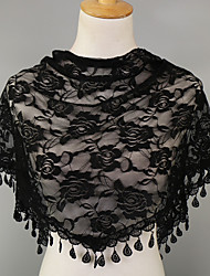 cheap -Women's Chiffon Triangle Scarf - Print Lace / Mesh / Cute / Fabric / Hair Scarf