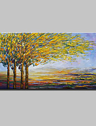 cheap -Mintura® Hand Painted Abstract Knife Tree Landscape Oil Painting On Canvas Modern Wall Art Pictures For Home Decoration Ready To Hang