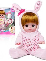 cheap -Girl Doll Interactive Doll Baby Girl 12 inch Silicone - lifelike Eco-friendly Gift Cute Child Safe Non Toxic Kid's Girls' Toy Gift