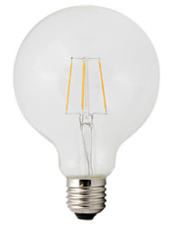 Недорогие -HRY 1шт 4 W LED лампы накаливания 360 lm E26 / E27 G95 4 Светодиодные бусины COB Декоративная Тёплый белый 220-240 V / 1 шт. / RoHs