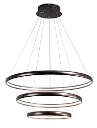 cheap -LightMyself™ Circular Chandelier Ambient Light Brass Aluminum Silica gel Adjustable 110-120V / 220-240V Warm White / Dimmable With Remote Control Bulb Included / LED Integrated