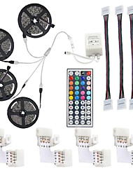 cheap -LED Strip Light Not-Waterproof 20M RGB SMD 5050 10mm 600LEDs Rope Lighting Color Changing Full Kit with 44-keys IR Remote Controller LED Lighting Strips for Home Kitchen Indoor Decoration