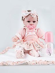 Недорогие -NPKCOLLECTION NPK DOLL Куклы реборн 18 дюймовый Новорожденный как живой Безопасно для детей Non Toxic Ручные прикладные ресницы Гофрированные и запечатанные ногти Детские Мальчики / Девочки Игрушки