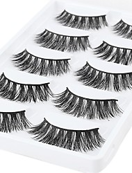 cheap -Eyelash Extensions False Eyelashes 10 pcs Professional Volumized Natural Curly Animal wool eyelash Daily Date Full Strip Lashes Thick - Makeup Daily Makeup Professional Portable Cosmetic Grooming