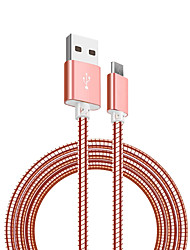 cheap -Micro USB Cable <1m / 3ft Quick Charge Stainless steel USB Cable Adapter For Samsung / Huawei / Nokia