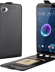 abordables -Coque Pour HTC HTC U11 plus / HTC U11 Life / HTC U11 Porte Carte / Clapet Coque Intégrale Couleur Pleine Dur faux cuir