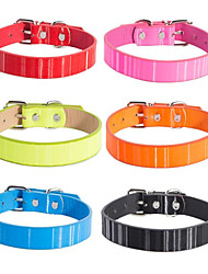 cheap -Dogs Cats Collar Foldable Solid For Dog / Cat Solid Colored PU Leather / Polyurethane Leather Black Blue Pink