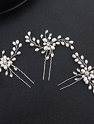 cheap -Pearl / Alloy Head Chain with Rhinestone 1 Piece Wedding / Special Occasion Headpiece