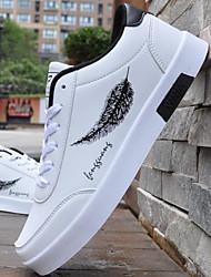 Недорогие -Муж. Комфортная обувь Зима на открытом воздухе Кеды Полиуретан Черно-белый / Белый / синий / Черный / EU40