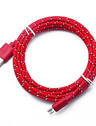 cheap -Nylon Braided Micro USB Cable 3m Data Sync USB Charger Cable For Samsung HTC LG Huawei Xiaomi Android Phone Cables