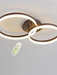 cheap -2-Light Geometric Modern Electrodeless Dimming LED Ceiling Light  50/40 Two Laps Acrylic Indoor Light For Living Room Bedroom Restaurant