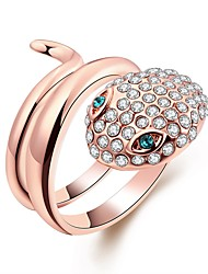 cheap -Women's Band Ring wrap ring Cubic Zirconia 1pc Rose Gold Gold Plated Geometric Ladies Fashion Gift Daily Jewelry Snake Cool