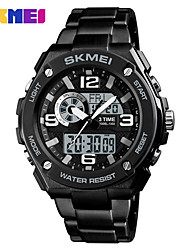 cheap -SKMEI Men's Sport Watch Digital Watch Digital Black 30 m Water Resistant / Waterproof Calendar / date / day Noctilucent Digital Casual Fashion - Black Red Blue One Year Battery Life / Large Dial