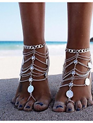 cheap -Barefoot Sandals feet jewelry Ladies Classic Vintage Women's Body Jewelry For Bikini Coin Alloy Silver