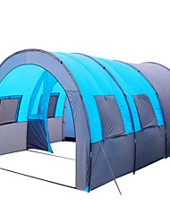 cheap -8 person Tunnel Tent Family Tent Outdoor Lightweight Windproof Breathability Single Layered Poled Tunnel Camping Tent Three Rooms 1000-1500 mm for Fishing Camping / Hiking / Caving Picnic 480*310*210