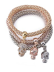 cheap -Women's Bracelet Skull Ladies Fashion Gold Plated Bracelet Jewelry Coffee For Gift Daily