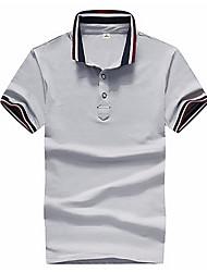 abordables -Tee-shirt Grandes Tailles Homme, Couleur Pleine - Coton Mao Gris / Manches Courtes