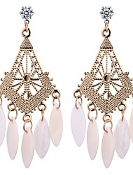 cheap -Women's Drop Earrings Ladies Vintage Fashion Feather Earrings Jewelry Gold For Birthday Office & Career 1 Pair