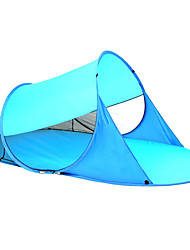cheap -3 person Beach Tent Outdoor Lightweight UV Resistant UPF50+ Single Layered Camping Tent <1000 mm for Beach Camping / Hiking / Caving Picnic Oxford Cloth 245*145*90 cm