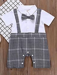 cheap -Baby Boys' Active Print Short Sleeves Romper Gray