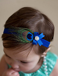 cheap -Toddler Girls' Sweet Daily Feathers Bow Polyester Hair Accessories Purple / Fuchsia / Royal Blue One-Size / Hair Tie