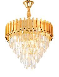 abordables -QIHengZhaoMing 4 lumières Cristal Lustre Lumière d'ambiance Chrome Plaqué Métal 110-120V / 220-240V Blanc Crème Ampoule incluse