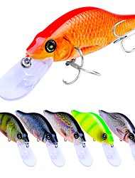 cheap -6 pcs Fishing Lures Hard Bait Crank Outdoor Sinking Bass Trout Pike Bait Casting Lure Fishing General Fishing Plastic