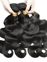 cheap -6 Bundles Brazilian Hair Wavy Human Hair Natural Color Hair Weaves / Hair Bulk Human Hair Extensions 8-28 inch Natural Color Human Hair Weaves Fashionable Design Best Quality For Black Women Human