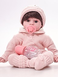 cheap -FeelWind Reborn Doll Girl Doll Baby Girl 20 inch lifelike Eco-friendly Hand Made Child Safe Non Toxic Parent-Child Interaction Kid's Girls' Toy Gift