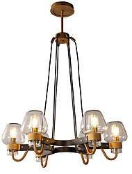 cheap -LWD 6-Light Candle-style / Sputnik Chandelier Uplight Painted Finishes Metal Glass New Design, Candle Style 110-120V / 220-240V Bulb Not Included