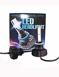 cheap -1 Pair 880 881 90W 9000LM Super Bright Lightness Intelligent Temperature Control Longer Lifespan LED Foglight Headlamp White