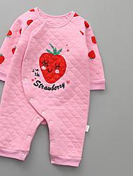 cheap -Baby Girls' Basic Daily Print Long Sleeve Romper Blushing Pink / Toddler