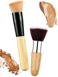 Недорогие -профессиональный Кисти для макияжа Кисть для румян 2 Экологичные Для профессионалов Мягкость удобный Синтетические волосы Дерево / Металл за