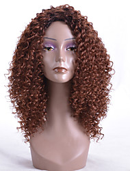 cheap -Synthetic Wig Curly Layered Haircut Wig Long Dark Auburn Synthetic Hair Women's Party Brown