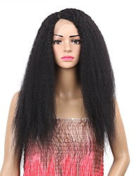 cheap -Synthetic Wig Synthetic Lace Front Wig Curly Side Part Lace Front Wig Ombre Medium Length Black#1B Medium Brown Synthetic Hair Women's Synthetic Best Quality New Arrival Black Ombre Laflare