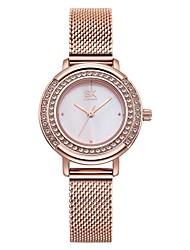 Недорогие -SK Жен. Эксклюзивные часы Наручные часы Diamond Watch Японский Японский кварц Розовое золото 30 m Защита от влаги Ударопрочный Аналоговый Дамы Мода - Розовое золото Два года Срок службы батареи