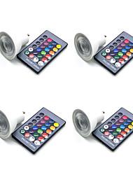 cheap -4pcs 5 W LED Spotlight 350 lm GU10 GU5.3 E26 / E27 3 LED Beads SMD 5050 Smart Dimmable Remote-Controlled RGBW 85-265 V