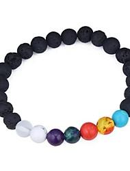 abordables -Bracelet à Perles Femme Cristal Résine dames Mode Bracelet Bijoux Noir pour Cérémonie Plein Air