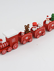 cheap -Christmas Decorations Christmas Gift Christmas Toy Train Holiday Train Kids Snowman Wooden Kid's Adults' Boys' Girls' Toy Gift 1 pcs