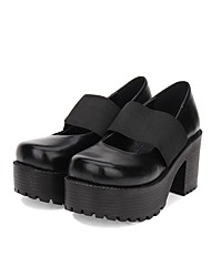 cheap -Women's Lolita Shoes Punk Fashion Gothic Lolita Gothic Creepers Shoes Solid Colored 8 cm Black PU(Polyurethane) Halloween Costumes / Steampunk