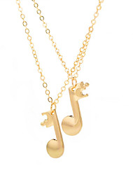 cheap -Women's Pendant Necklace Long Music Music Notes Ladies Fashion Alloy Gold Black Silver 49+5 cm Necklace Jewelry 2pcs For Daily Going out