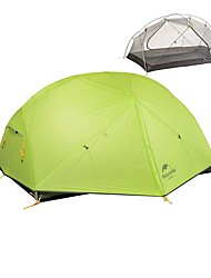 cheap -Naturehike 2 person Backpacking Tent Outdoor Lightweight Windproof Rain Waterproof Double Layered Camping Tent >3000 mm for Climbing Camping / Hiking / Caving Traveling Terylene 210*135*100 cm